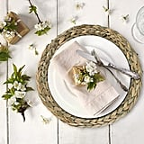 Cork & Leaf Seagrass Dinner Plate Chargers