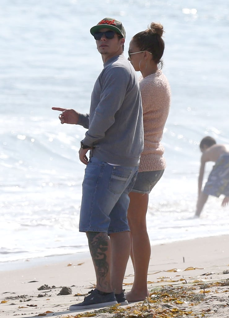 Jennifer Lopez and Casper Smart went to the beach in Malibu, CA, on Friday.