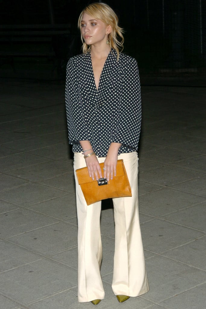 Ashley Olsen's Polka-Dot Blouse and Silk Trousers in 2004