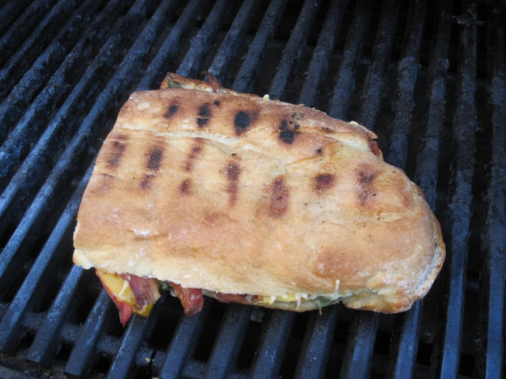 Grilled Peach and Pancetta Sandwiches