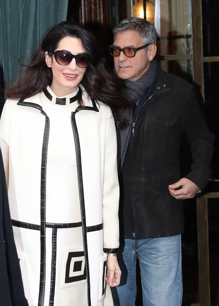 George and Amal Clooney go for a walk George-Amal-Clooney-Out-Paris-February-2017