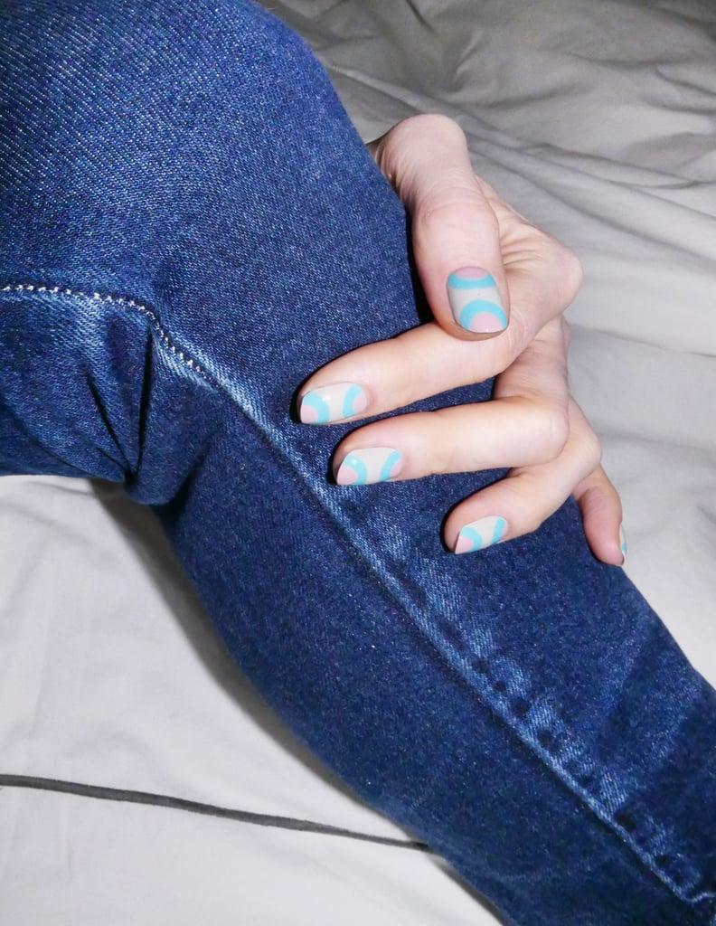 Double-Half-Moon Manicure DIY