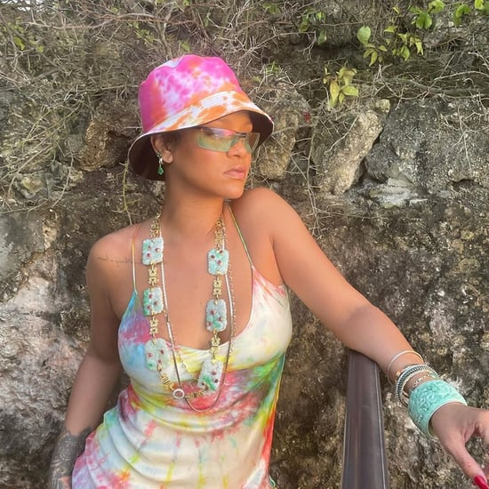 Rihanna Wears Head-to-Toe Tie Dye Outfit in Instagram Post