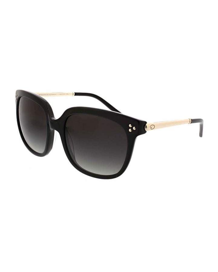 9c436a837b O by Oscar de la Renta Glam Oversized Square Acetate/Metal Combo Sunglasses