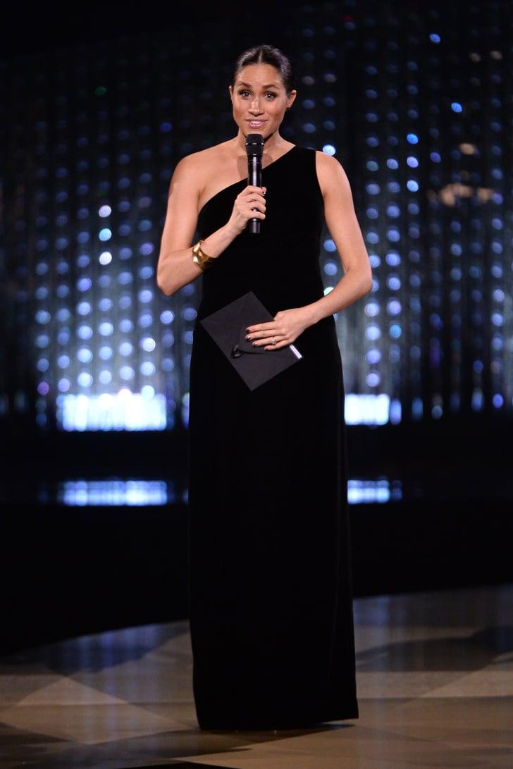 Meghan Markle S Black Dress At The 2018 Fashion Awards
