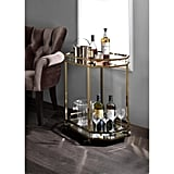 Acme Furniture Lacole Mirror and Champagne Serving Cart