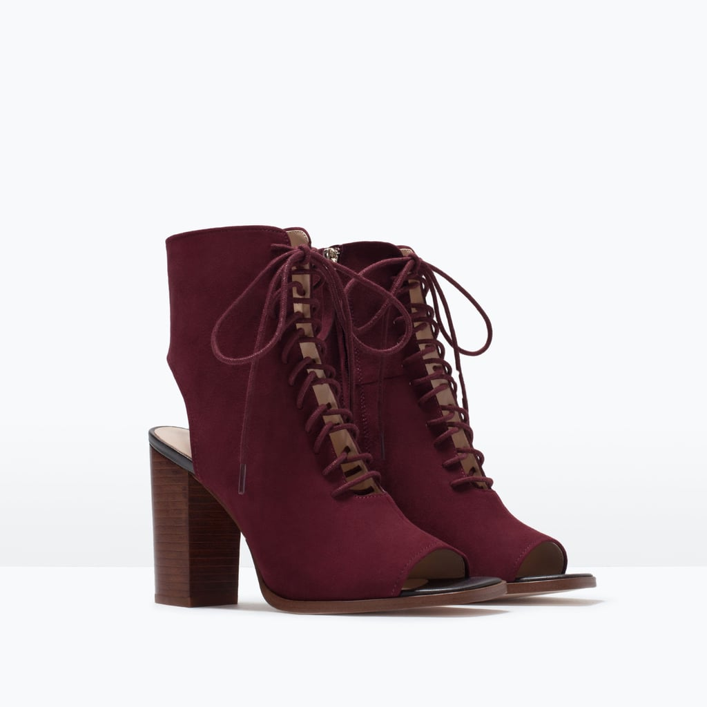 Zara Leather Lace-Up Ankle Boot ($119)