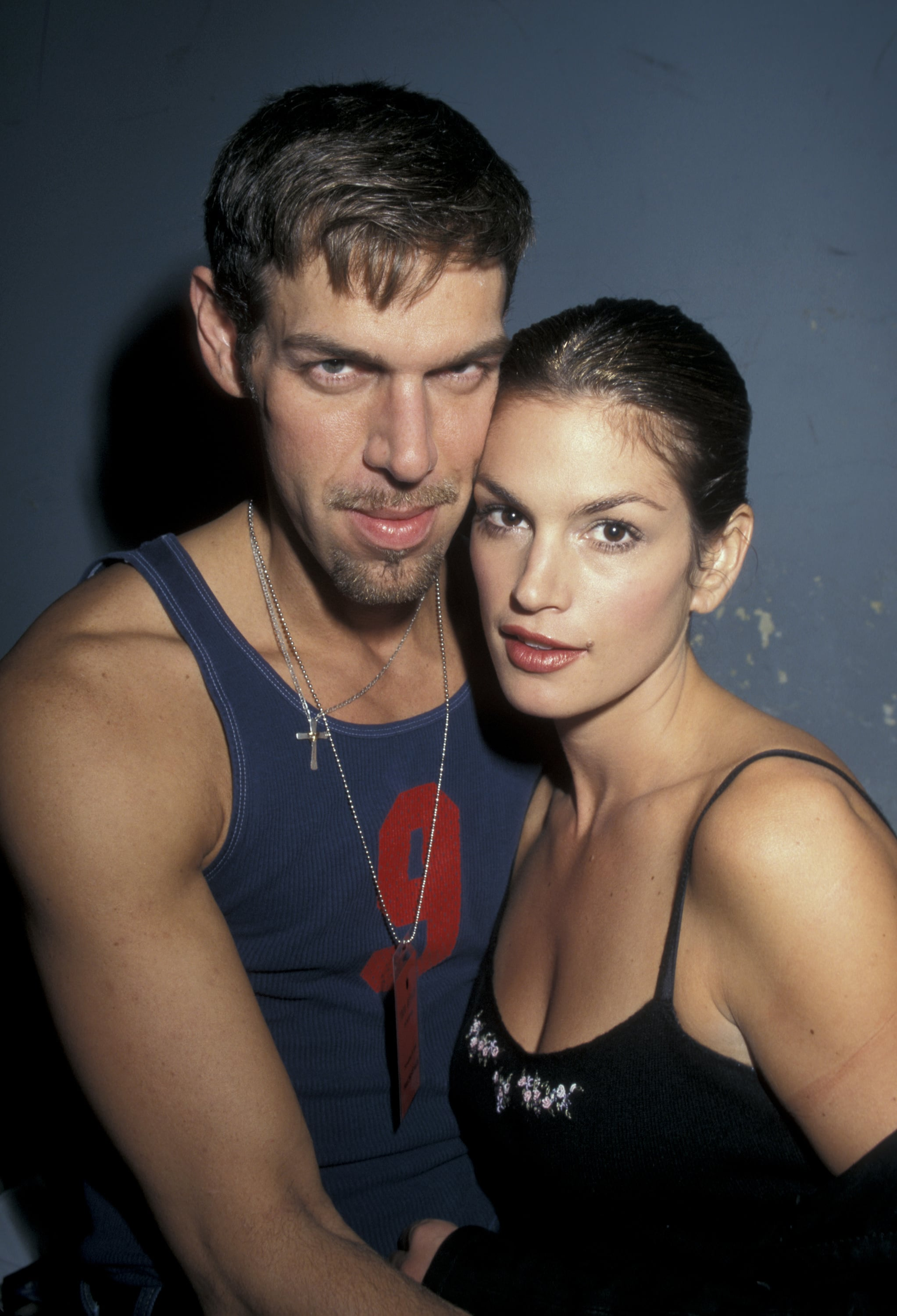 Kevyn Aucoin and Cindy Crawford (Photo by Jim Smeal/WireImage)