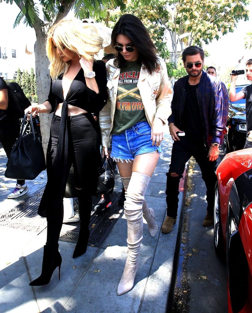 Kendall Jenner Wearing Denim Cutoffs June 2016