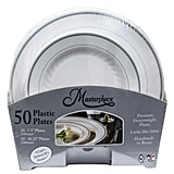 Masterpiece White Plates With Silver Rim Combo