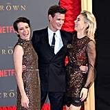 With Claire Foy and Vanessa Kirby