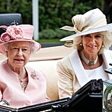Queen Elizabeth II and Camilla Duchess of Cornwall on Day 1