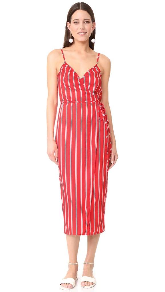 Wayf Sandalwood Cami Wrap Dress