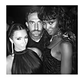 Kim, Riccardo, and Naomi leaned in. Source: Instagram user kimkardashian