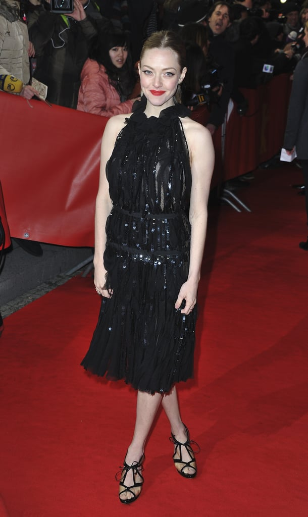 A black sparkly Nina Ricci was Amanda Seyfried's dress of choice at the Les Misérables premiere in Berlin.