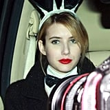 Emma Roberts as a Playboy bunny at Kate Hudson's Halloween party.