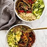 Entrée: Vegan Pressure Cooker Portobello Mushroom Fajita Bowls