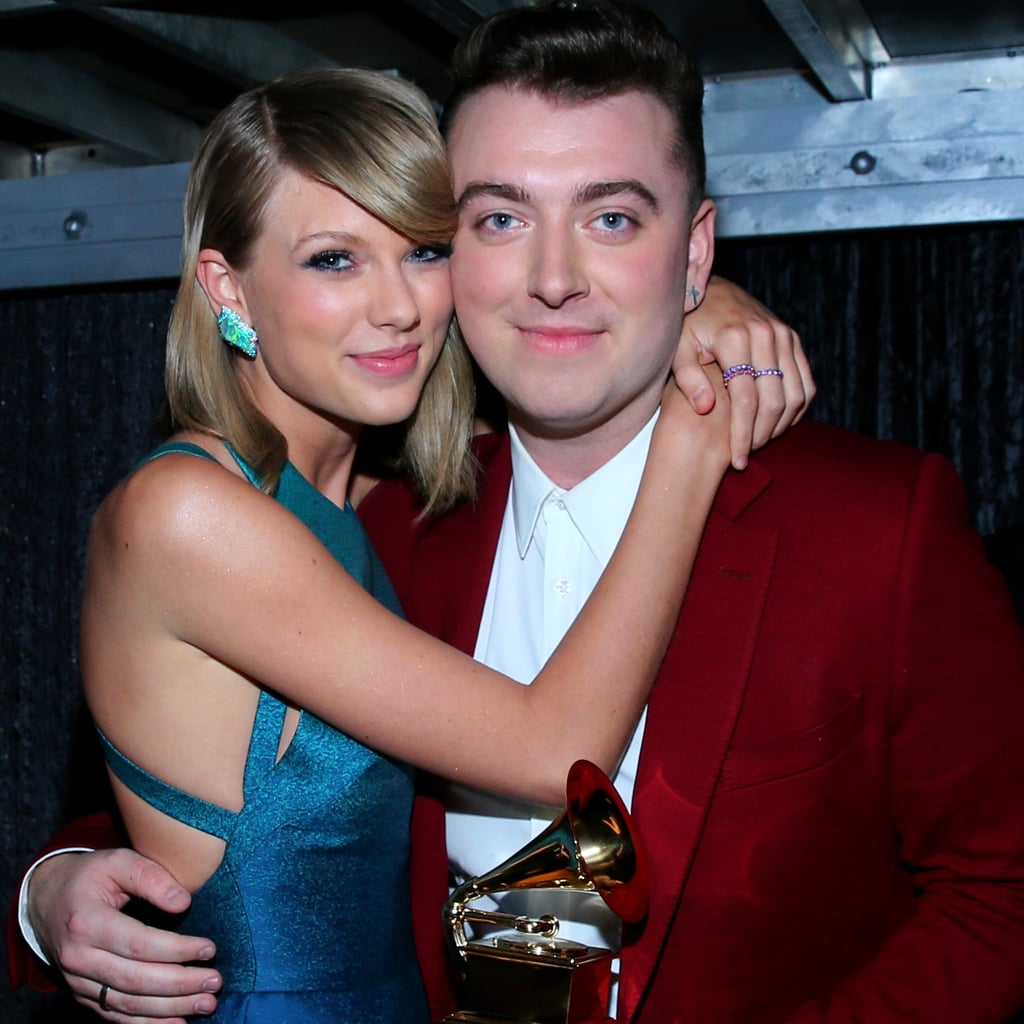 Sam Smith With Celebrities at the Grammys 2015