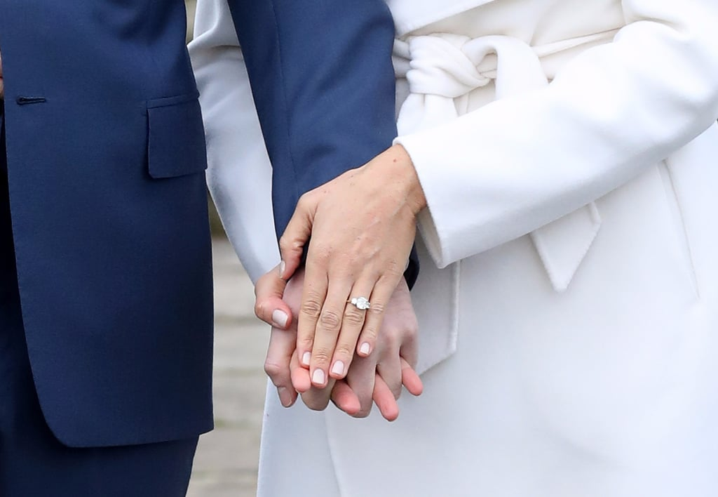 Meghan Markle Engagement Photo Manicure