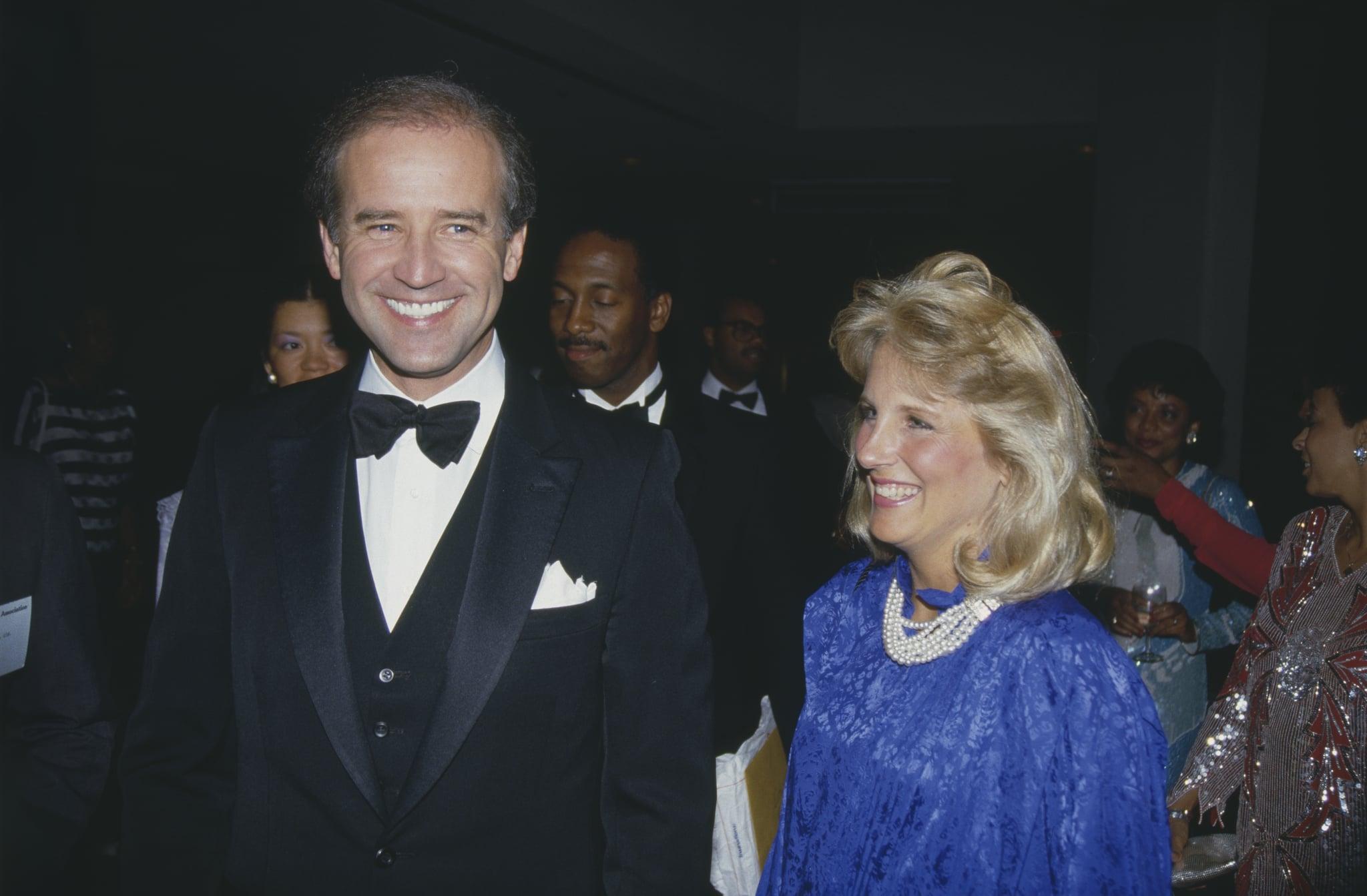 Le sénateur Joe Biden candidat à la présidence des Etats-Unis en 1987, avec sa femme Jill Biden. (Photo by Rick Maiman/Sygma via Getty Images)