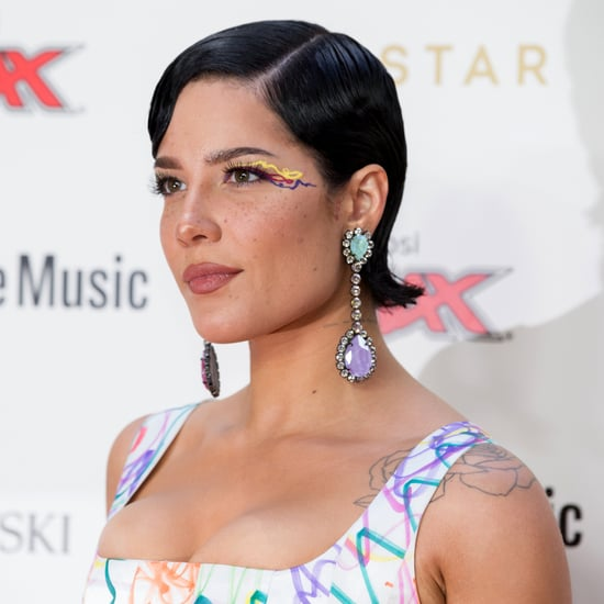 Halsey Wears Low-Rise Leather Pants to Harry Styles Concert