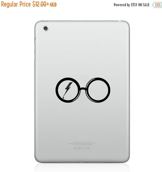 Harry Potter Glasses and Scar Silhouette iPad Decal  ($10)