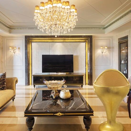 سرير أطفال مطلي بالذهب عيار 24 قيراط  في دبي