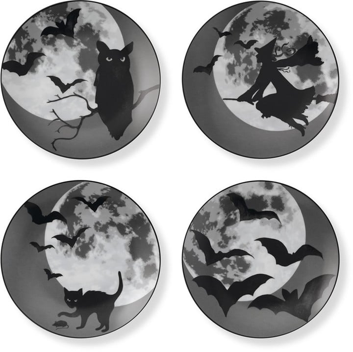 Williams Sonoma Halloween Moon Plates