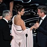 Penélope Cruz and Robert De Niro presented Spike Jonze with his award.