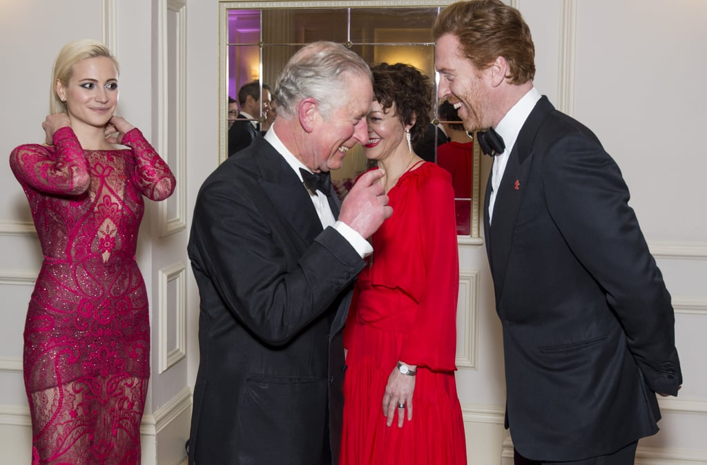 Prince Charles had a good laugh with Damian Lewis at the the annual Princes Invest in Futures reception.
