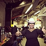 Oprah visited Calgary and got into the spirit with a sweet cowboy hat. Source: Instagram user oprah