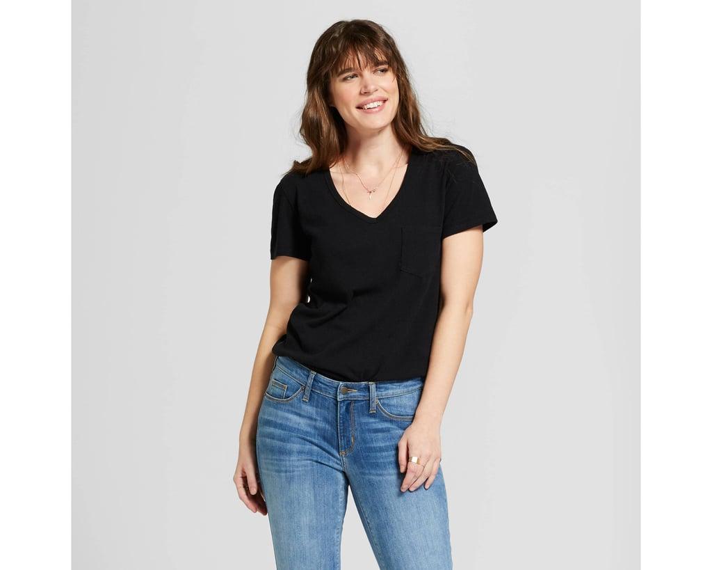 Women's Sensory Friendly Pocket V-Neck T-Shirt