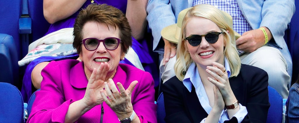 Emma Stone and Billie Jean King at US Open