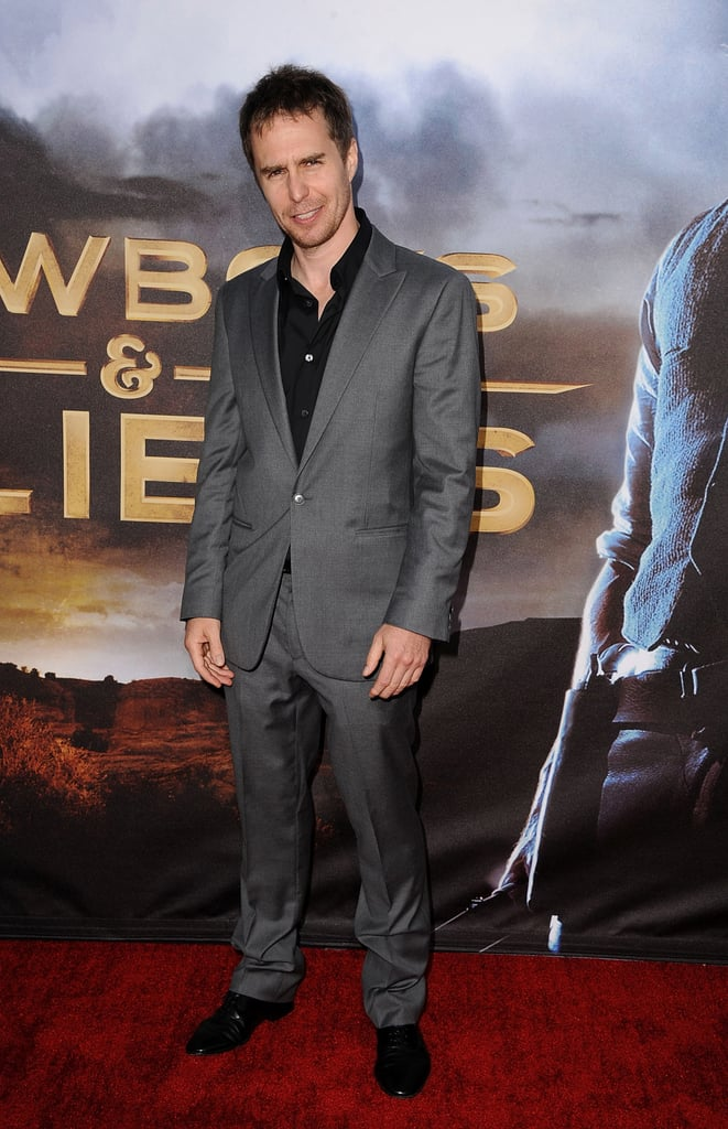 Sam Rockwell picked a slick suit for the premiere.