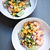 Shrimp With Quinoa Mango Avocado Salsa