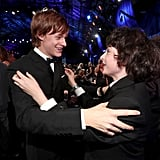 Pictured: Finn Wolfhard and Lucas Hedges
