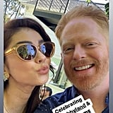 Sarah Hyland and Jesse Tyler Ferguson at Wells and Sarah's Engagement Party