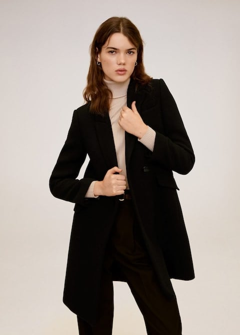 MNG Lapels Wool Coat ($125.97, originally $179.95)