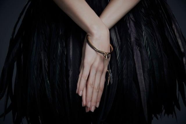 Raven Bird Cage Bangle ($195)