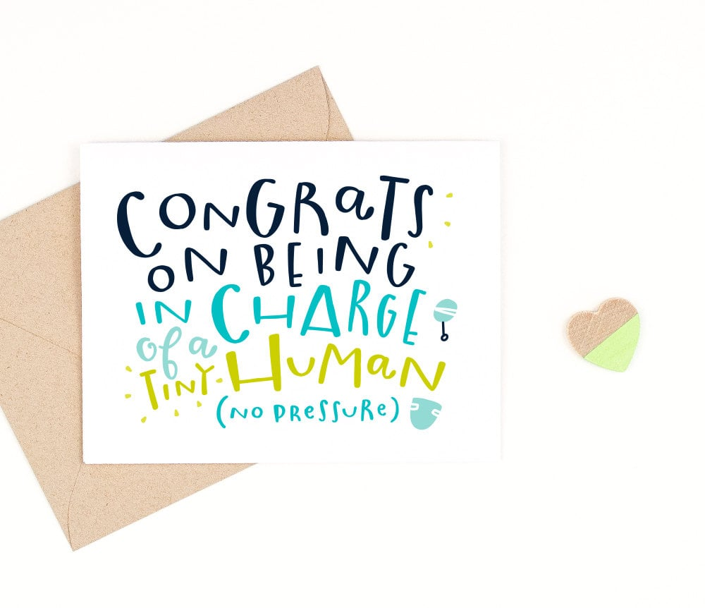 Tiny Human Baby Card