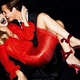 This model stuns in a fire engine red Tom Ford number. Source: Fashion Gone Rogue