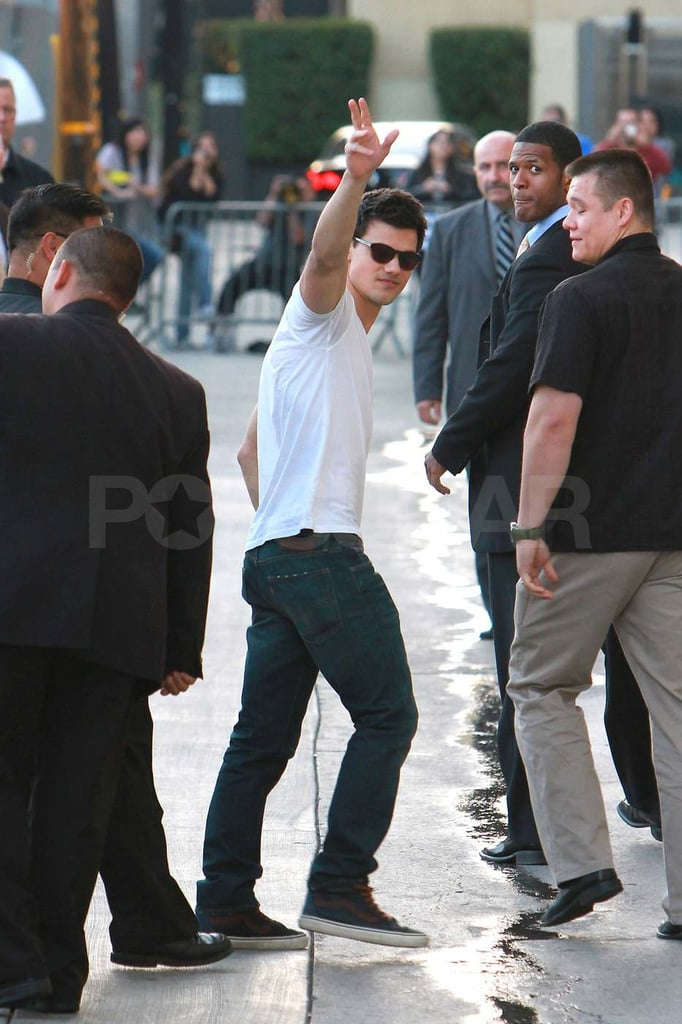 Pictures of Taylor Lautner at Jimmy Kimmel Live
