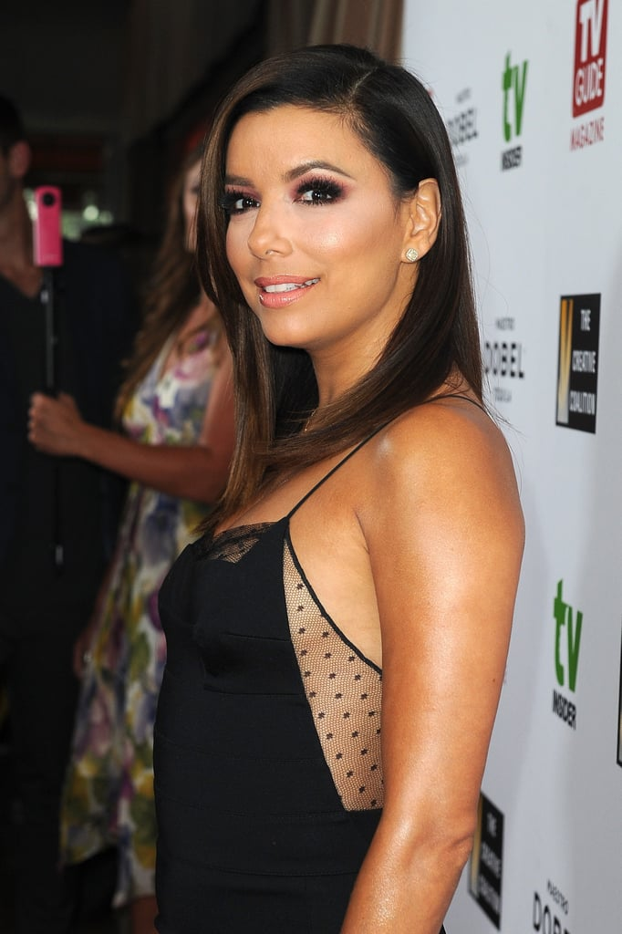 Eva Longoria Sexy Black Dress 2015  Popsugar Latina Photo 5-4136