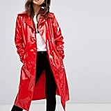 PrettyLittleThing Vinyl Trench Coat