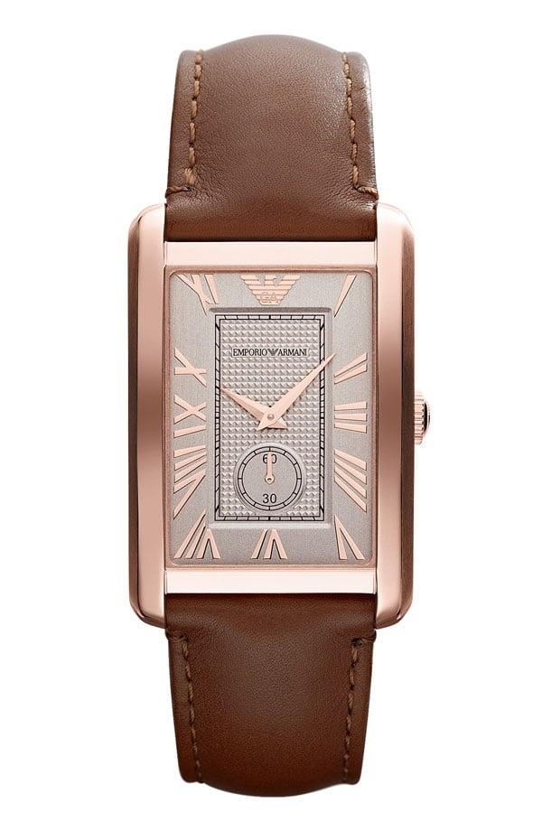 Emporio Armani Rectangular Face Watch ($245)