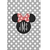Minnie Polka Dot Head Silhouette Monogram Journal ($11)