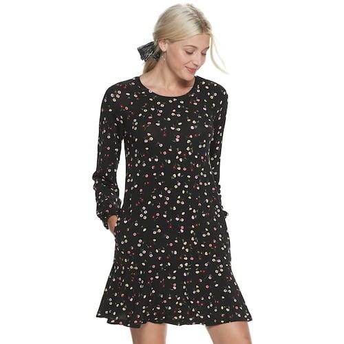 POPSUGAR Drop Waist Mini Dress in Cut Blooms