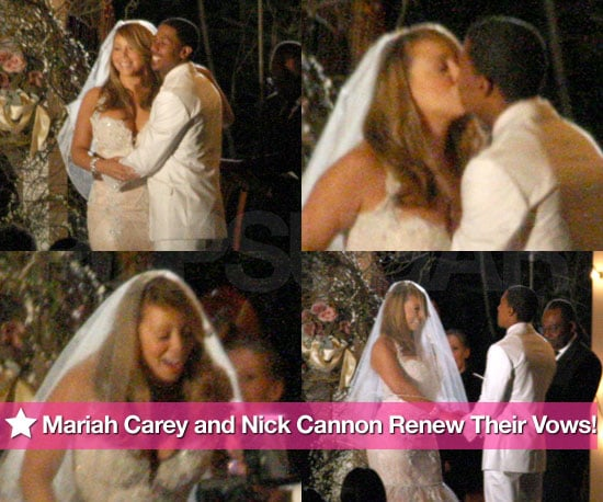 Pictures of Mariah Carey and Nick Cannon Renewing Their Wedding Vows