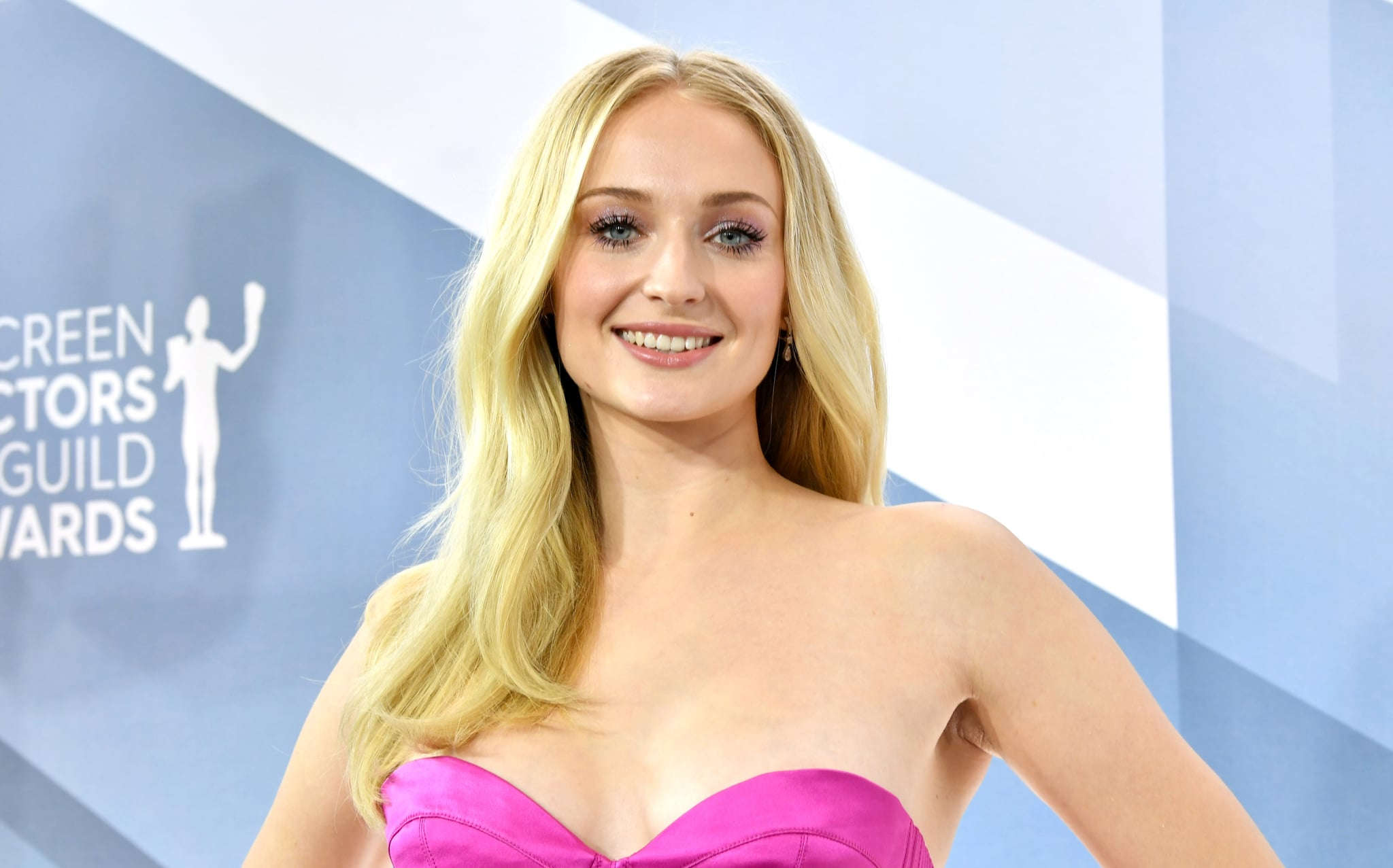 LOS ANGELES, CALIFORNIA - JANUARY 19: English actress Sophie Turner attends the 26th Annual Screen Actors Guild Awards at The Shrine Auditorium on January 19, 2020 in Los Angeles, California. (Photo by Amy Sussman/WireImage)