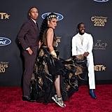 Lena Waithe, Tichina Arnold, and Elijah Kelley at the 2020 NAACP Image Awards
